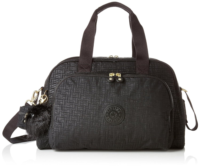 (Black Pylon Emb, CAMAMA) - Kipling CAMAMA Messenger Bag, 44 cm, 22 litres, Black (Black Pylon Emb) B07D15VYN9