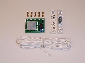 Placa de proyecto de alarma para BBC Micro:bit. Con sensor de movimiento PIR