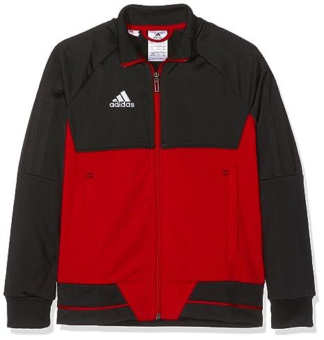 Adidas Tiro 17 Veste de survêtement Enfant XS Black Scarlet White ... df09856f35e2
