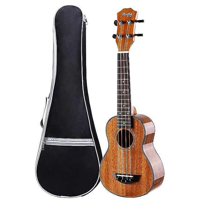 Ukelele, Mugig Ukelele concierto 23 Pulgadas de Caoba Pulido con 4 Cuerdas de Nailon AQUILA , incluye Bolsa de Transporte: Amazon.es: Instrumentos musicales