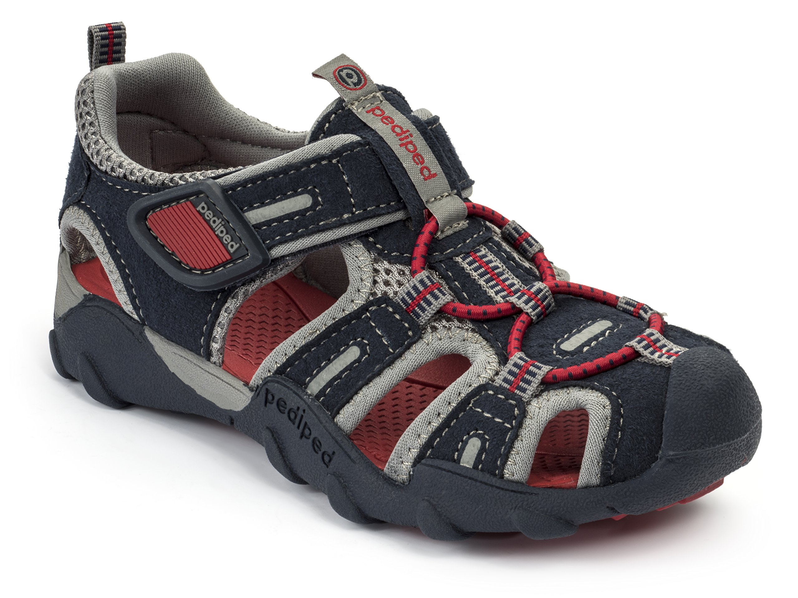 pediped Flex Canyon Water Sandal (Toddler/Little Kid/Big Kid), Navy/Red, 32 EU(1 E US Little Kid)