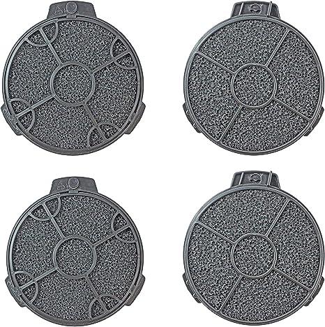 Spares2go extractor redondo filtros de carbono para cata/Designair Campana (Pack de 4): Amazon.es: Grandes electrodomésticos
