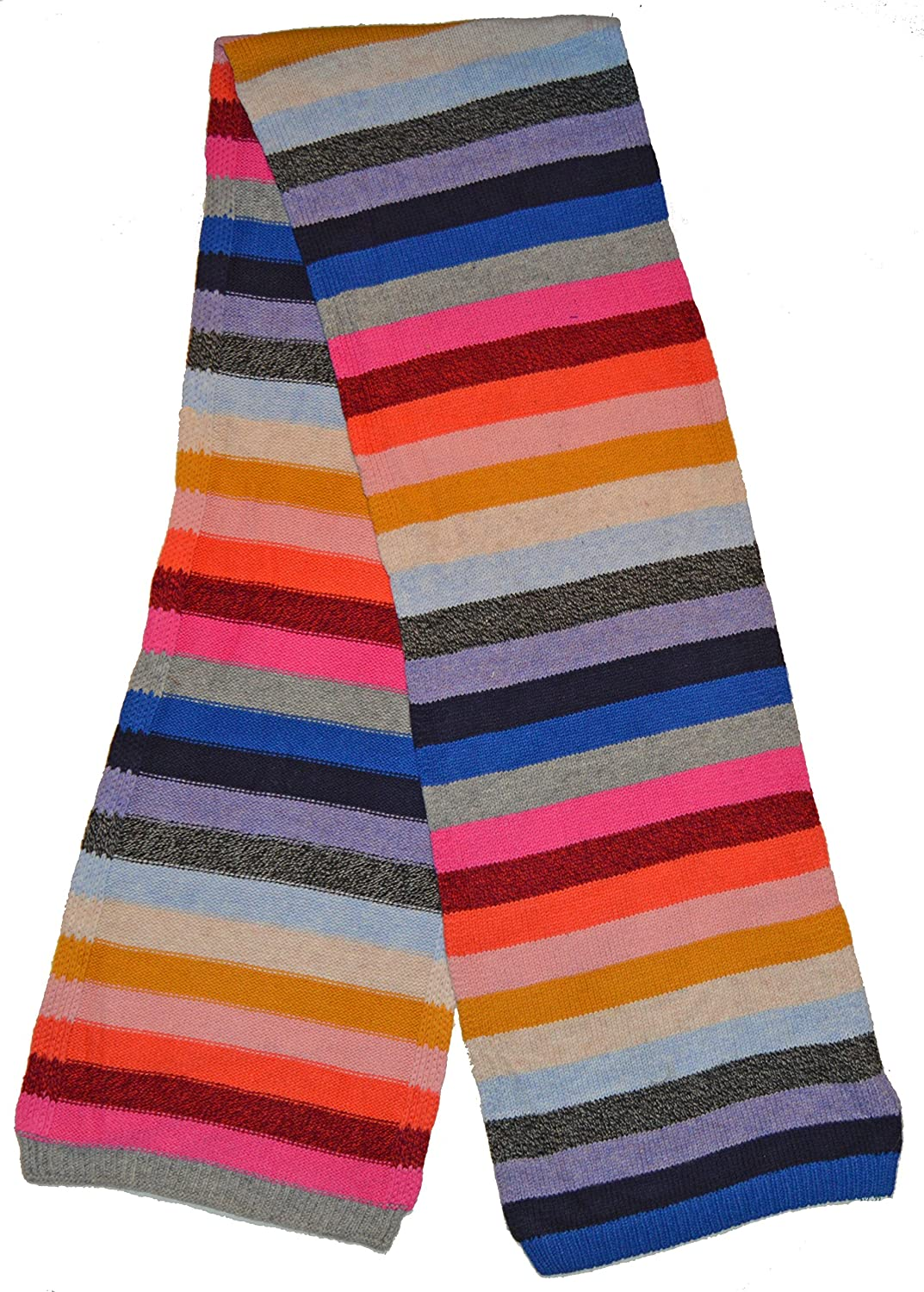 Gap Womens Crazy Multi Stripe Merino Wool Blend Winter Scarf