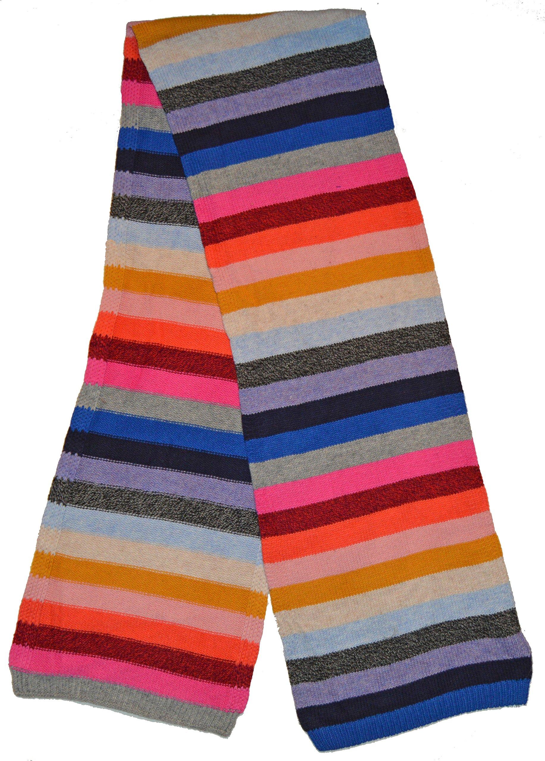 Gap Womens Crazy Multi Stripe Merino Wool Blend Winter Scarf