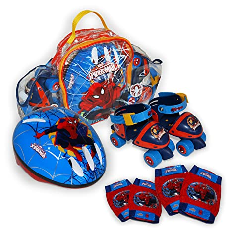 Spiderman - Set Mini Roller en Mochila (Saica Toys 9408)