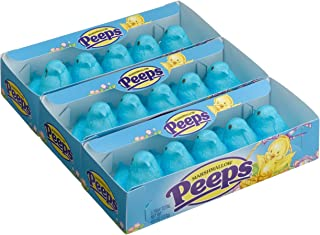 product image for Marshmallow Peeps Blue Chicks, 4.5-Ounce, 15-Count Boxes (Pack of 6)