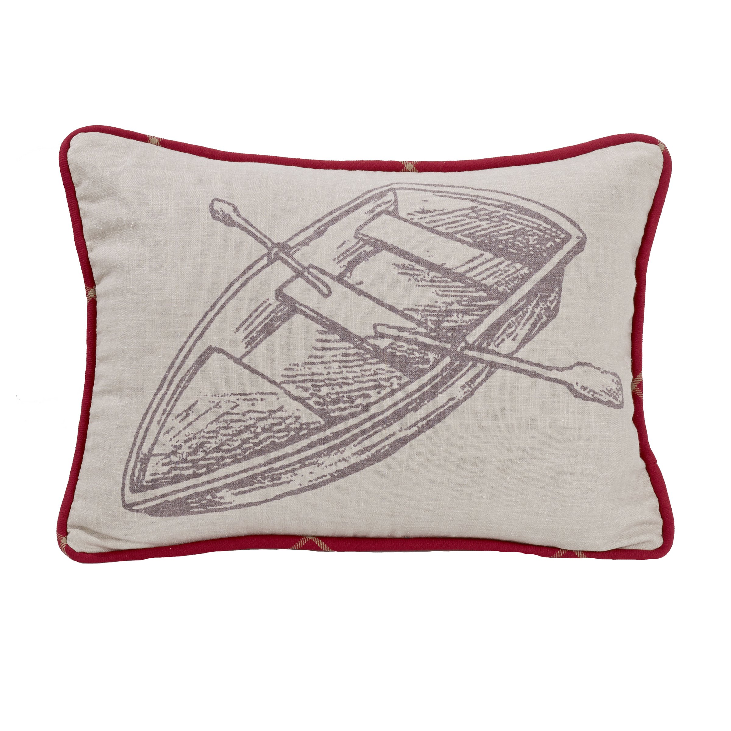 HiEnd Accents South Haven Rowboat Pillow by HiEnd Accents