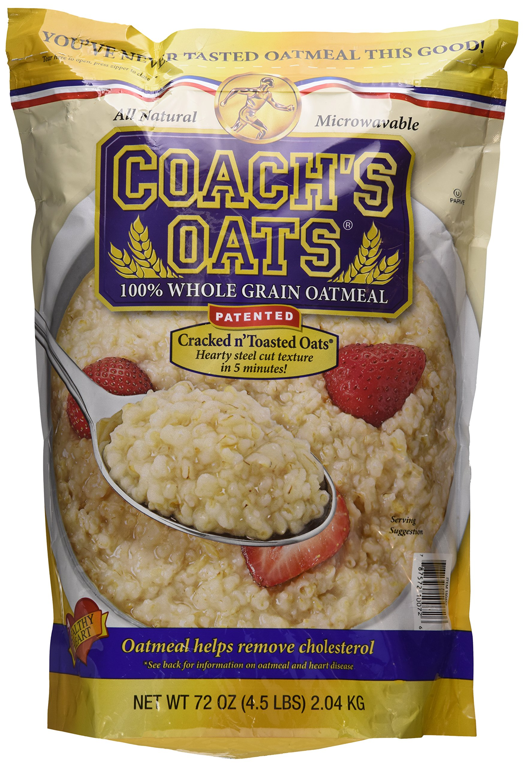 Coach's Oats 100% Whole Grain Oatmeal Two Pack (4.5 Lbs) Total 9 Pounds