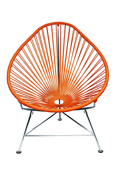 Strange Innit Designs Acapulco Chair Orange Weave On Chrome Frame Gmtry Best Dining Table And Chair Ideas Images Gmtryco