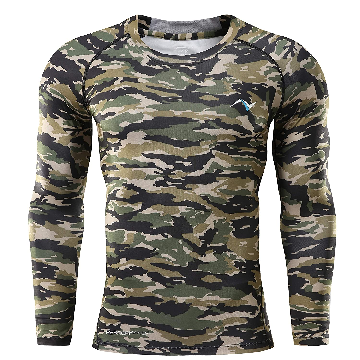 2e2ade454dd31 Nooz Men's Cool Dry Compression Baselayer Long Sleeve T Shirts