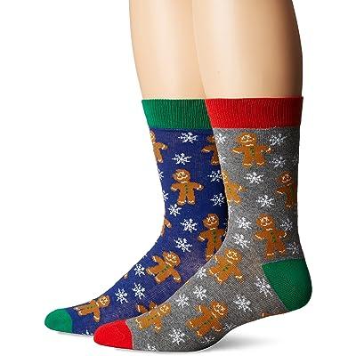 3 Santas Men's Comet, Heather Grey/Blue, Sock Size: 10-13/Shoe Size:9-11 at Amazon Men's Clothing store