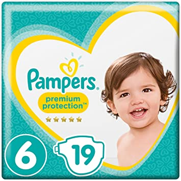 1 x 120 Stüc Pampers Premium Protection 13-18kg Extra Large Monatsbox, Gr.6