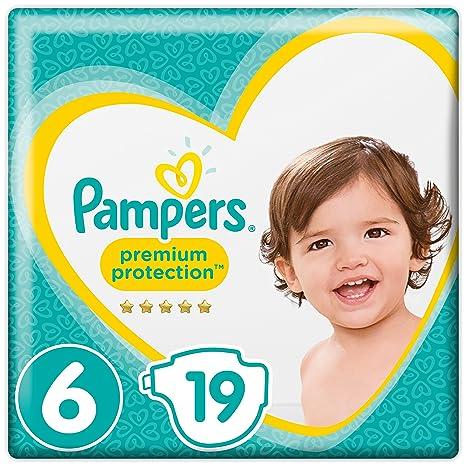 Pampers Premium Protection Windeln, Gr. 6 Extra Large (ab 13 kg), 1er Pack (1 x 19 Stück)