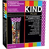 KIND Bars, Pomegranate Blueberry Pistachio + Antioxidants, Gluten Free, 1.4 Ounce Bars, 12 Count