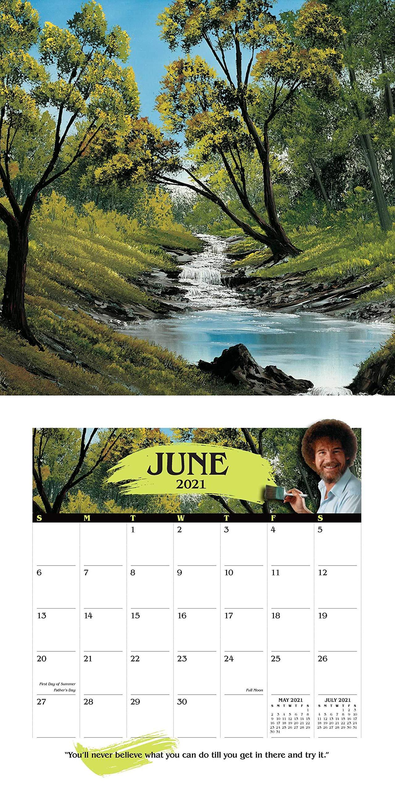 Photos of Bob Ross Calendar 2021