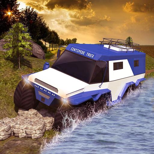 Offroad Centipede Truck Driver Simulator Games 2018: Russian Pickup Truck Drive ()