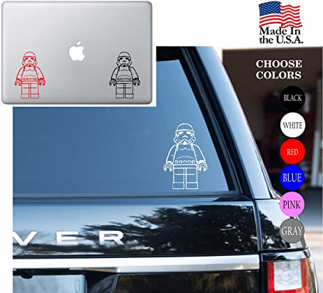 Star wars saga storm trooper lego jedi knight may the force be with you vinyl decal