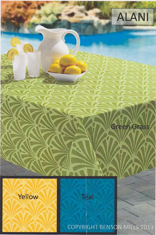 Amazon.com: Alani Indoor / Outdoor Tablecloth (Yellow, 52\