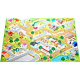 "Kids Felt Play Mat with non-slip, grip backing, indoor / outdoor, machine washable, 59"" L x 39""W"