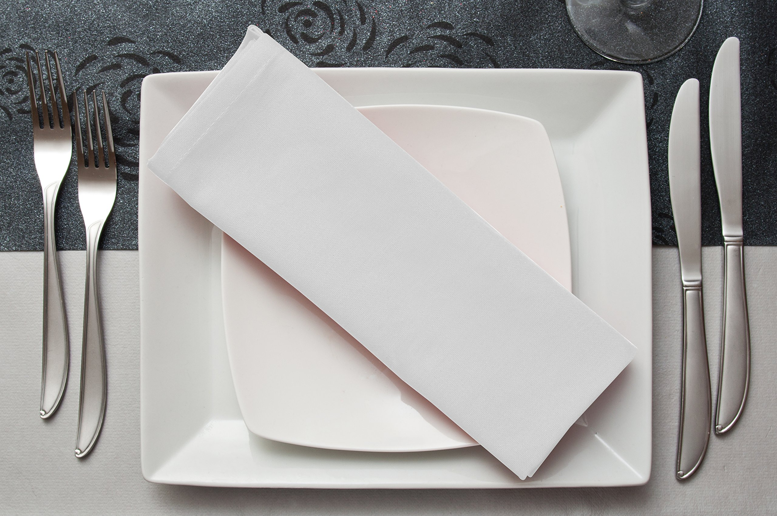 Cotton Dinner Napkins White - 12 Pack (18 inches x18 inches) Soft and Comfortable - Durable Hotel Quality - Ideal for Events and Regular Home Use - by Utopia Bedding by Utopia Bedding (Image #4)