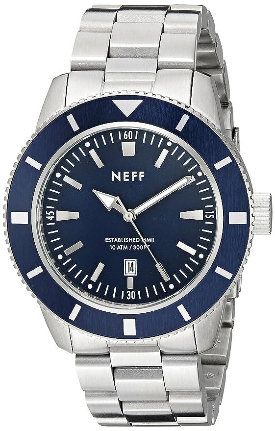 Amazon.com: Neff Mens NF0233SLPL Pretender Analog Display Japanese Quartz Two Tone Gold Watch: Watches