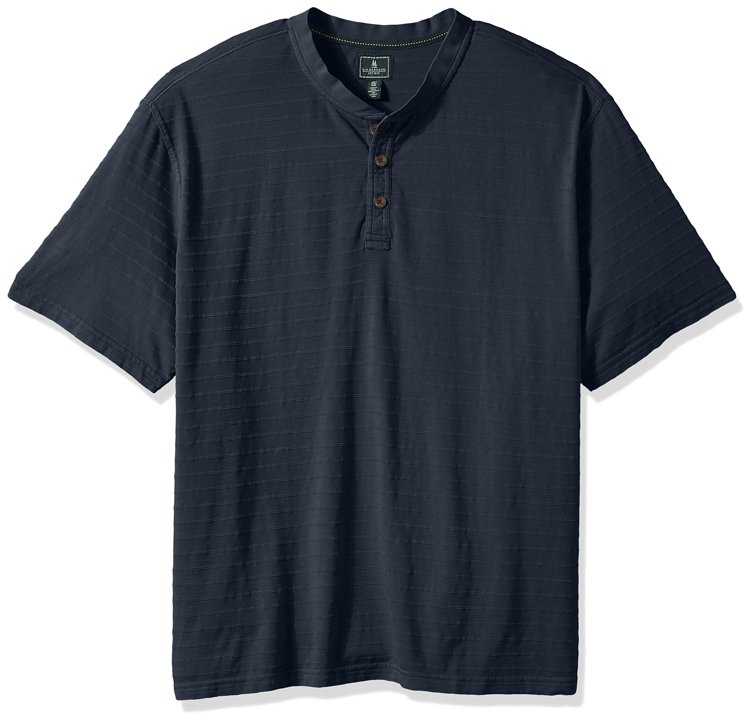G.H. Bass & Co. Men's Tall Jack Mountain Jersey Short Sleeve Henley, Rich Navy Blazer, 4X-Large Big