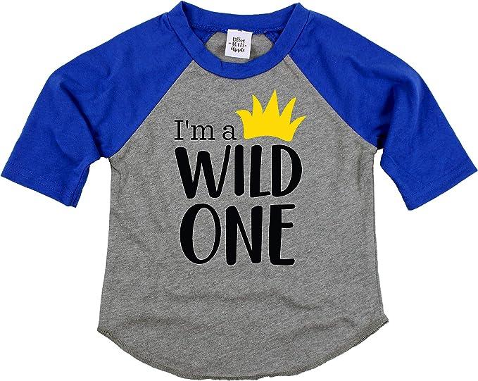 Amazon.com: Wild One - Camiseta de cumpleaños para niño ...