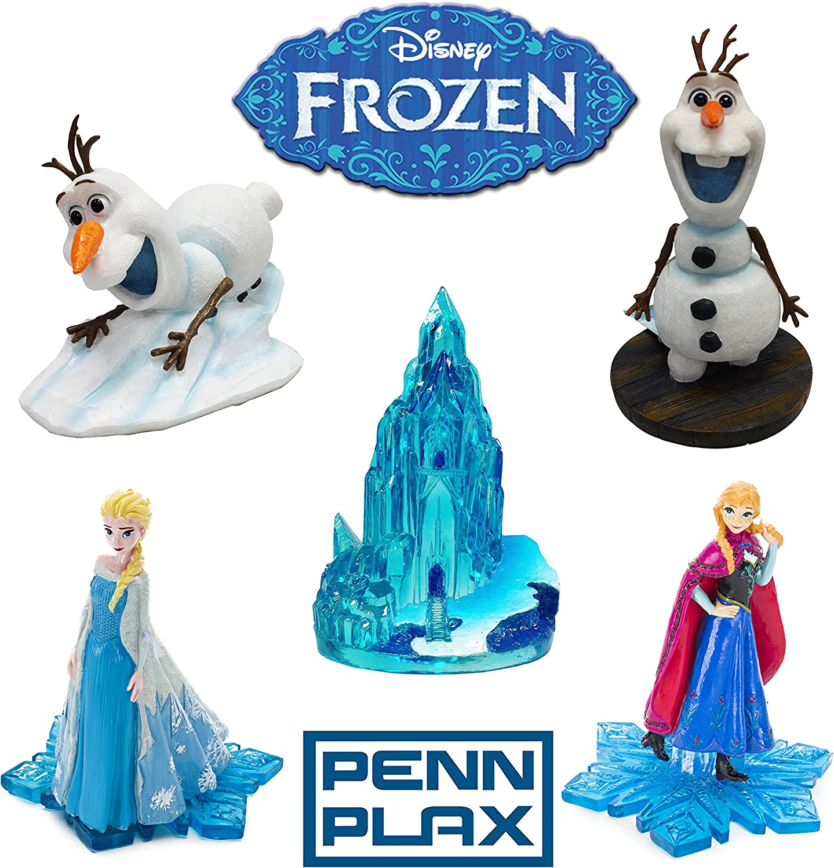 Penn-Plax Officially Licensed Disney Aquarium Ornament Gift Set: Frozen Characters Plus Ice Castle Aquarium Decorations