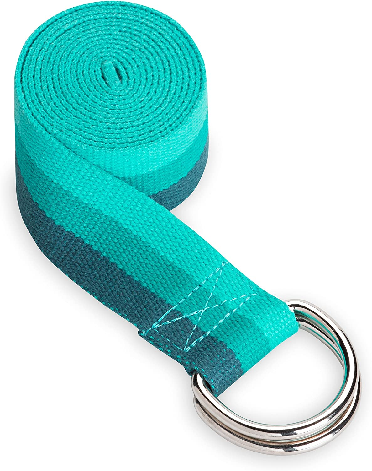Gaiam Yoga Strap (6ft) Stretch Band with Adjustable Metal D-Ring Buckle Loop | Exercise & Fitness Stretching for Yoga, Pilates, Physical Therapy, ...