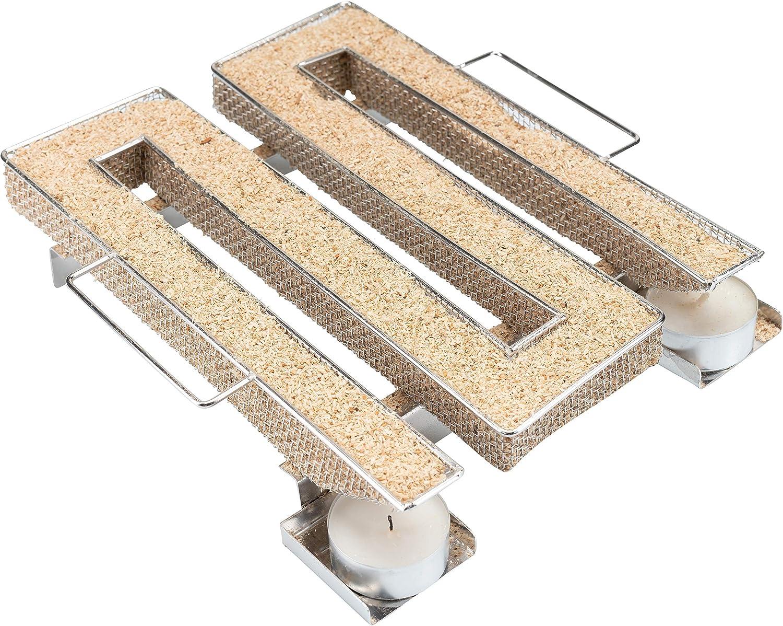 riijk Generador de Humo Frío para Ahumar - para Barbacoa, Horno de Ahumado y Todo Tipo de Generador de Humo Frío - M-Forma