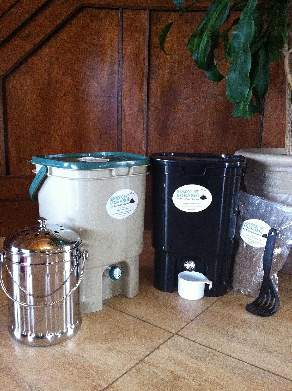 VermiHut Bokashi Compost Kit- Deluxe Twin Model