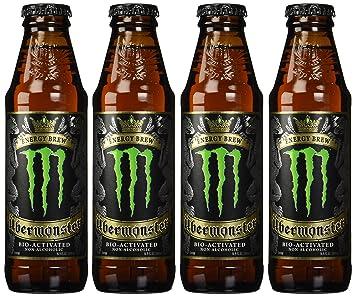 Amazon.com : 4 Pack - Über Monster Energy Brew - 16.9oz : Monster ...