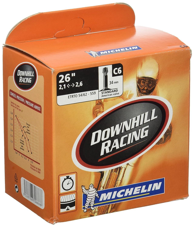 Michelin DOWNHILL RACING BTT - Camara de bicicleta 26x2.20-2.80 Standard reforzada valvula 35mm 670686