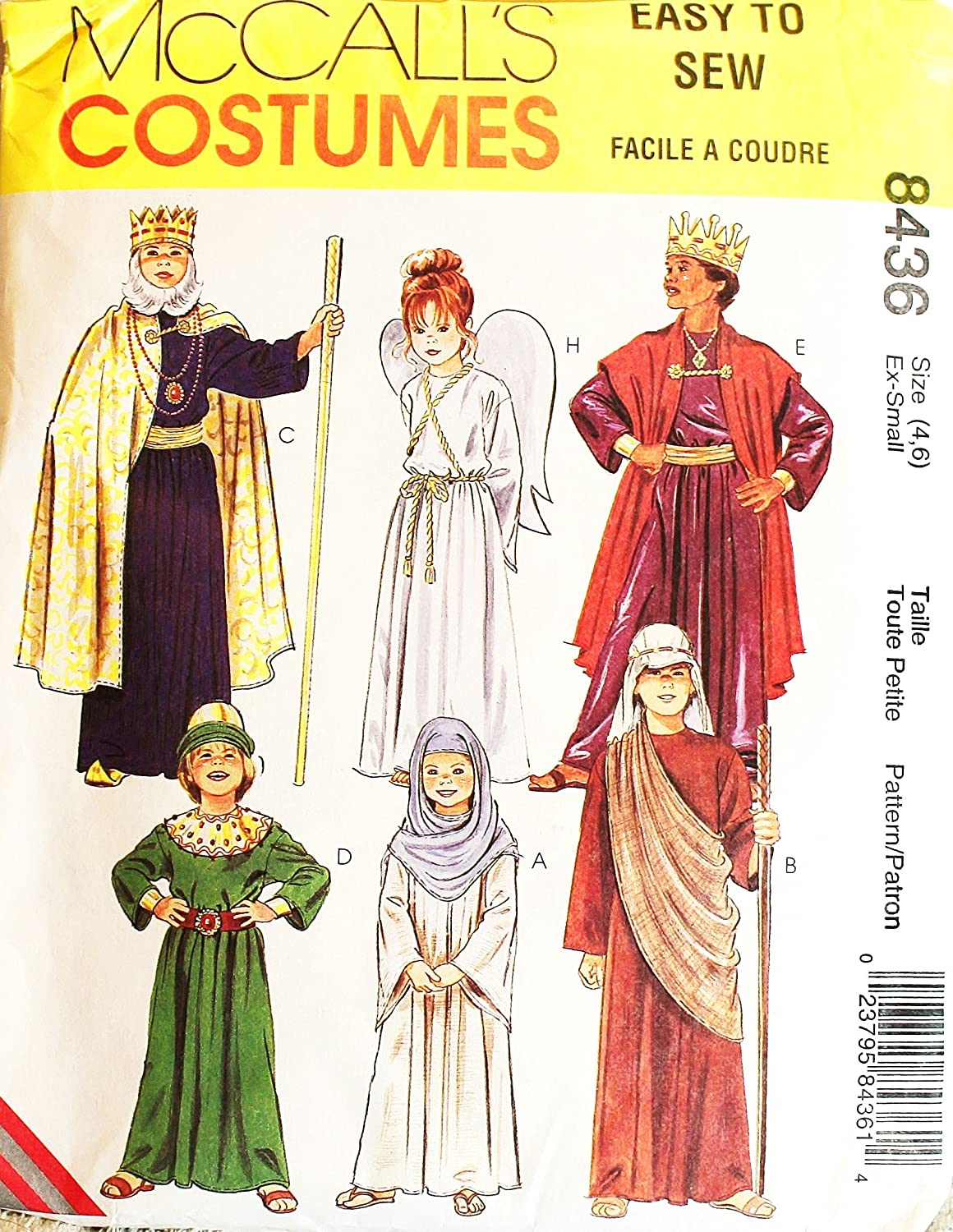 Amazon 1996oop mccalls pattern 8436 childs sz 46 king amazon 1996oop mccalls pattern 8436 childs sz 46 king angel shepherd wisemen religiousnativity costumes arts crafts sewing jeuxipadfo Images