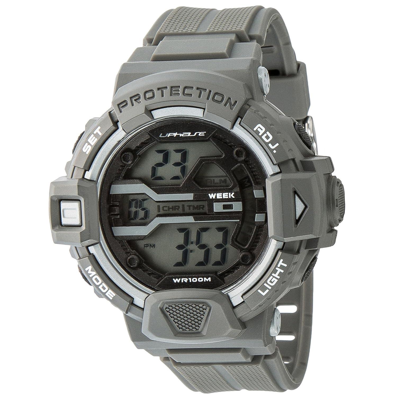 Reloj de pulsera digital UPhasE, cuarzo cronógrafo, UP706-150
