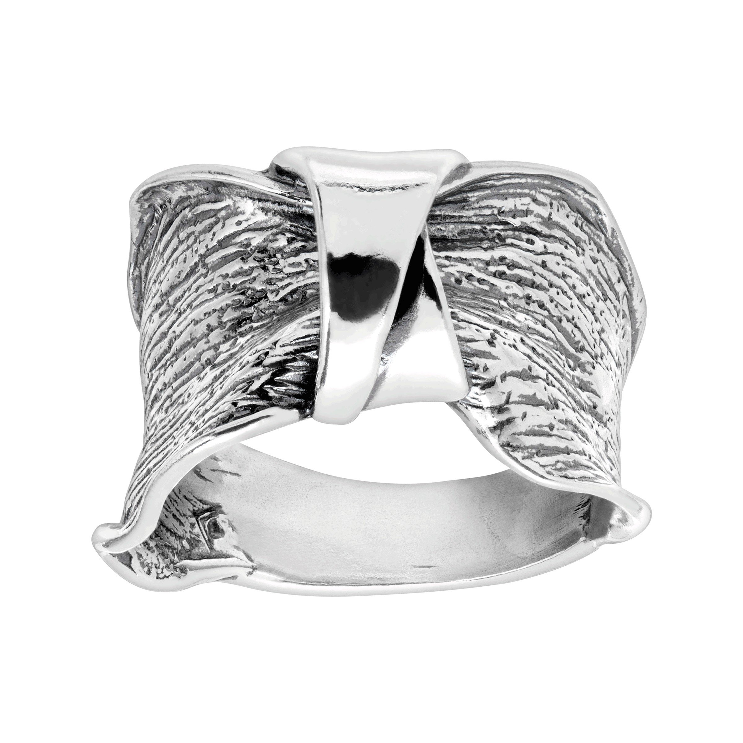 Silpada 'Bridge the Gap' Ruched Ring in Sterling Silver
