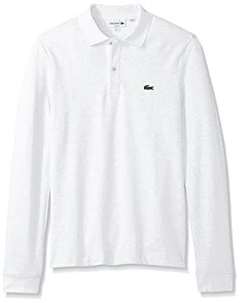8dafa3e3da6fbb Lacoste Men s Long Sleeve Classic Slim Fit Pique Polo at Amazon Men s Clothing  store