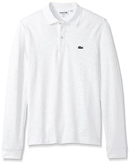 lacoste men s long sleeve classic slim fit pique polo at amazon Short Sleeve Shirt lacoste men s long sleeve classic slim fit pique polo white x large