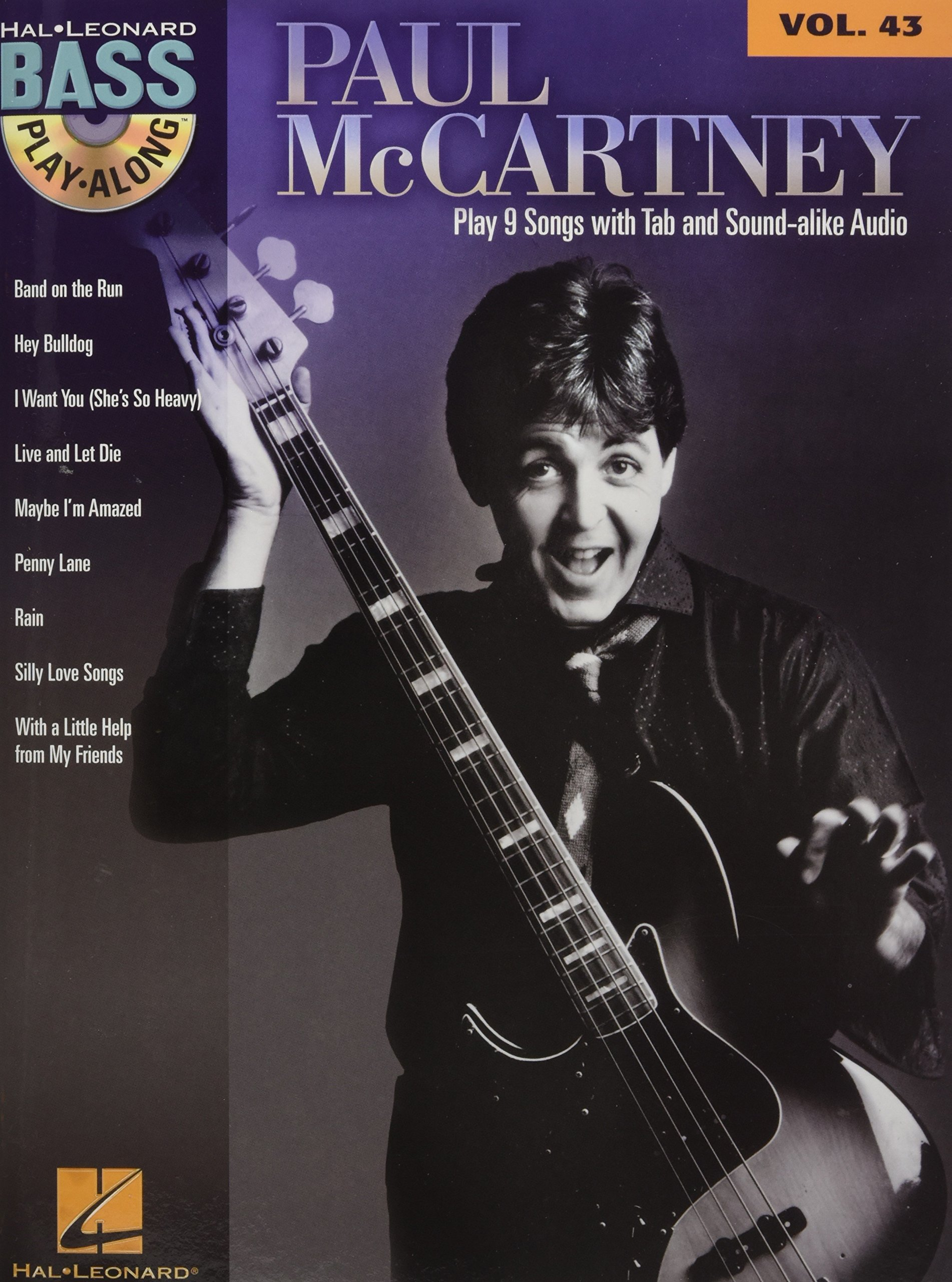 Amazon Paul McCartney Bass Play Along Volume 43 0884088642747 Books