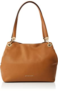 1a79655819ad4 Amazon.com  Michael Kors Raven Large Leather Shoulder Bag - Acorn  Shoes