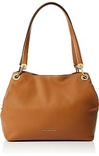 fb578cac05ca6 Amazon.com  Michael Kors Raven Large Leather Shoulder Bag - Acorn  Shoes