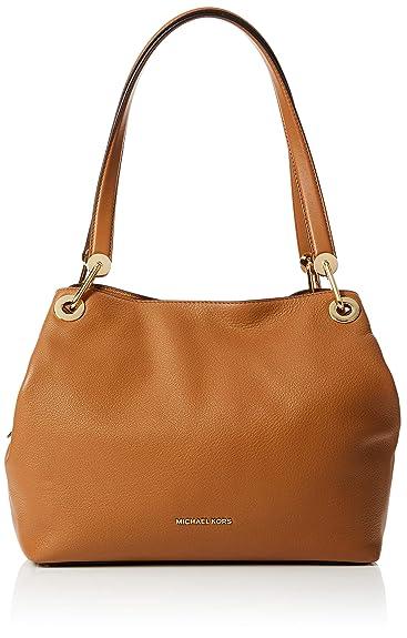 c8d8157f1d82 Michael Kors Raven Large Leather Shoulder Bag- Acorn  Handbags  Amazon.com