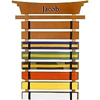 KidKraft Personalized Martial Arts Belt Holder with Black Zen - Jacob
