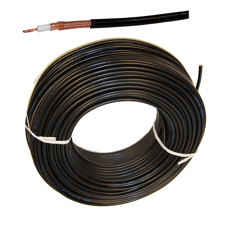 1 Meter Flexible aircell 7 Cable para FM Radio VHF en Marino Calidad para Yates Barco Marítimo Radio Equipo Cable Coaxial Doble Blindaje, lámina de cobre ...