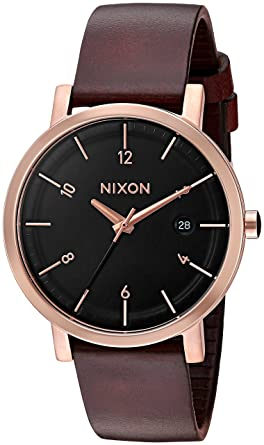 Quartz And 38' Stainless brownmodelA9841098 WatchColor Nixon Leather Steel Men's 'rollo 5AqRj34L