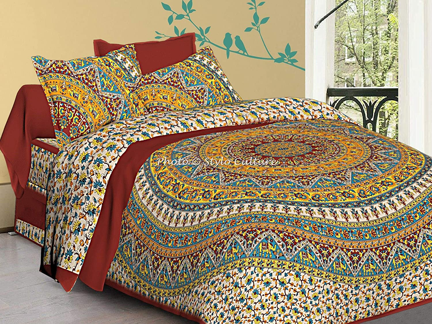 Queen Size Elephant Indian Mandala Duvet Cover Quilt New Bedding Covers Blanket