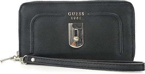 Guess, Portemonnaie femme, Portefeuille, Porte-carte, noir  Amazon ... e5d0ab24123