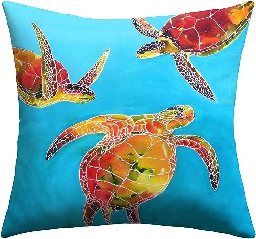 Deny Designs Clara Nilles Tie Dye Sea Turtles Outdoor Throw Pillow