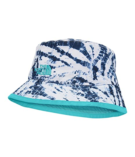 9e4ecd10a07 The North Face Youth Sun Stash Hat - Blue Wing Teal Fern Print   Blue  Curacao