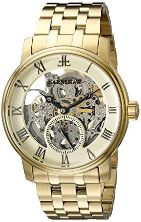 Thomas Earnshaw Mens ES-8041-11 Westminster Analog Display Automatic Self Wind Gold Watch